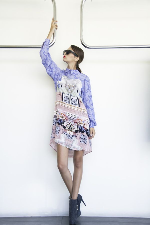 Print shirtdress by Mary Katrantzou now available at Splash City Limassol,  photography by Filep Motwary  1