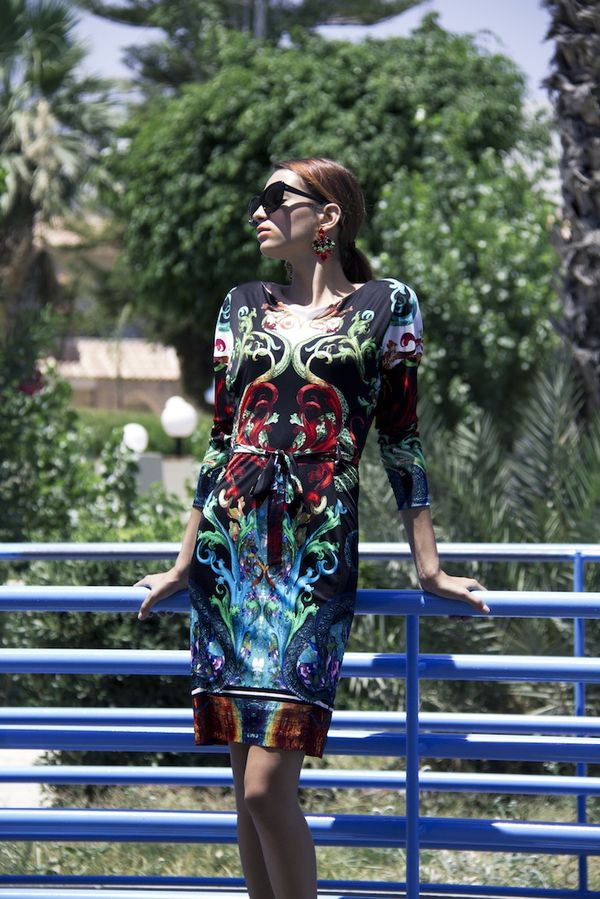Roberto Cavalli print dress available at Splash By The Beach , Limasol,  photography by Filep Motwary  0785